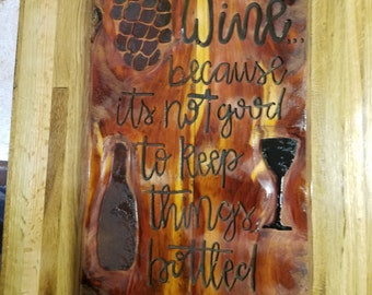 Wine sign ***Great for home or Winery