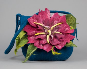 Felt bag / Handmade bag / Wool felted bag / Unique item / Ready to ship/ Free shipping.