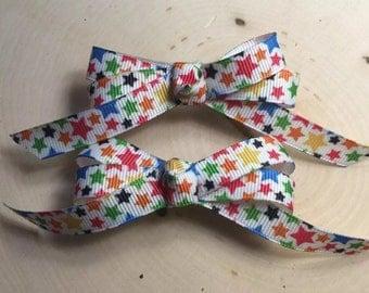 Confetti Stars Hair Bows