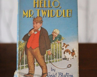 Enid Blyton's 'Hello Mr Twiddle' with original dust jackets