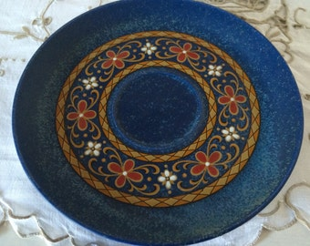 Winterling Bavaria Schwarzenbach Saucer for Coffee Cup.  Cobalt Blue with Retro Design.  Replacement China.