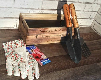Personalised Engraved Gardening Kit, Gifts for Men, Gifts for Women, Fathers Day, Mothers Day, Garden (00193)