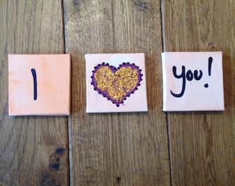 I Love You! Canvas Set