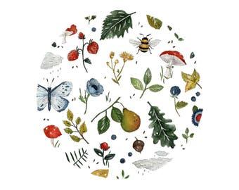Spring Garden- Fine Art A4 Giclee Print