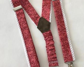 Girl's Suspenders in Red