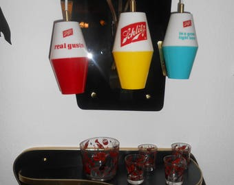 50s vintage slot beer lamp