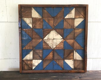 Barn Quilt, Rustic Barn Quilt, Wood Mosaic, Weathered Wood