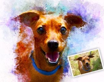 Custom Portrait, Pet portrait, Personalized gift, Memorial art, Dog portrait, Custom dog portrait, Cat portrait, Custom pet portrait