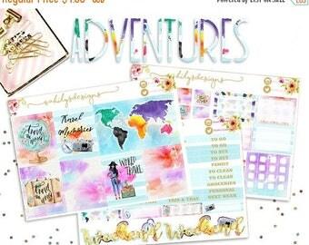 50% OFF ADVENTURES COLLECTION Week Set // Erin Condren // The Happy Planner // Sticker Kit // Spring Stickers