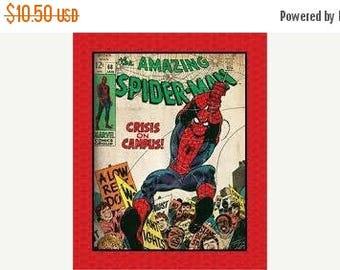 SALE Spiderman Fabric Panel / Marvel Comics III Amazing Spider-Man Panel Camelot Fabrics