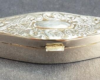 Hallmarked American REO, Sterling silver diamond shaped box