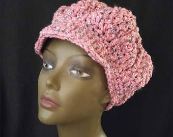 Pink Newsboy Hat Etsy