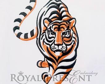 Machine Embroidery Design Tiger - 3 sizes