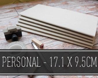 Midori, Travelers Notebook, Refills - PERSONAL SIZE