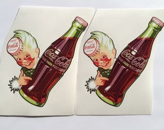 2 Coca Cola Coke Sprite Boy Die Cut Decals