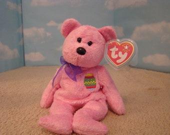 Eggs Pink Bear Ty Beanie Baby