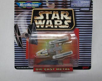 1996-97 Star Wars Y-Wing Starfighter Micro Machines MIB Die Cast Metal Galoob 66260