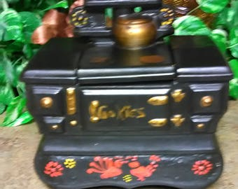 McCoy Antique Stove Cookie Jar Old Fashion Stove Cookie Jar by McCoy Usa