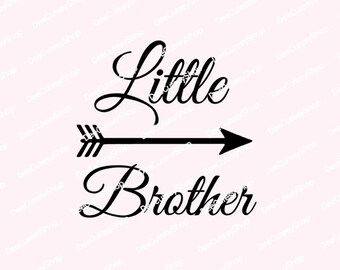 Little Brother Iron-On, Matte Black, Blue, Heat Transfer, Brother Iron On, NOT DIGITAL, Iron-On Decal