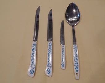 Cornflower Blue Knives and Spoon