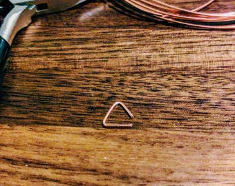 Small Copper Triangle Cartilage Earring