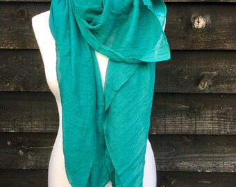 Linen Scarf, Linen Mix Soft Organic Scarves. Large wrap scarf. Great Gift!