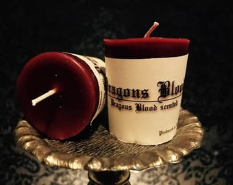 Dragon's Blood Votive Candle Pair | Metaphysical Votive Candles | Handmade Candles | Scented Votive | Wicca Candles | Witchcraft Candles