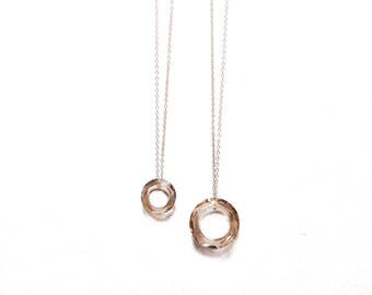 GOLDEN GRACE necklace* dainty necklace with circle drop