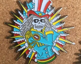 Uncle Sam Grateful Dead Glow in the Dark Bolt Pin