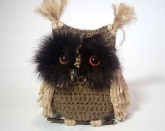 Owl Crochet. Owl Amigurumi. Owl interior.