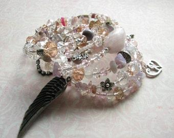 Bracelet Wrap bracelet Bracelet memory wire Beaded bracelet Beaded wrap bracelet Beaded gemstone bracelet crystal bracelet Gift cuff Bangle
