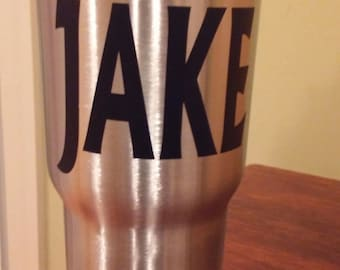 Name decal for large Yeti cup