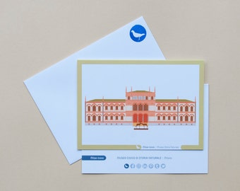 Milan Icons Greeting Cards-natural history museum-Milan