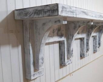 Floatng Shelf, Wall Shelf, Mantel, Fireplace Mantel, Shabby Shelf, Display shelf, Mantel, Shabby Chic, Entryway Shelf, Rustic Wall Shelf