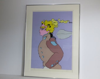 Iconic Peter Max Abstract, Mid-Century Modern Pop Art Era, Pencil Signed And Numbered Lithograph, 50 Of 250.