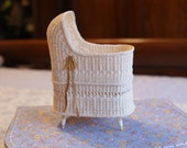 Reserved for Doreen - A Dollhouse baby bed in ivory