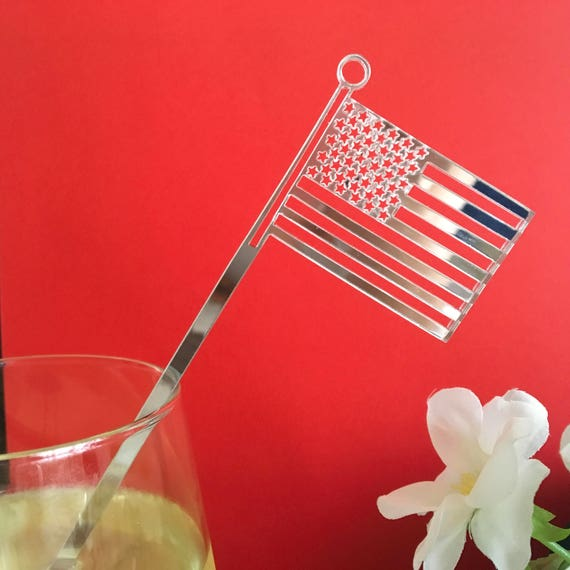 Patriotic Swizzle Sticks, American Flags, 4th of July Cocktail Picks, 4th of July Celebration, 4th of July Decor, 4th of July Cupcake Topper