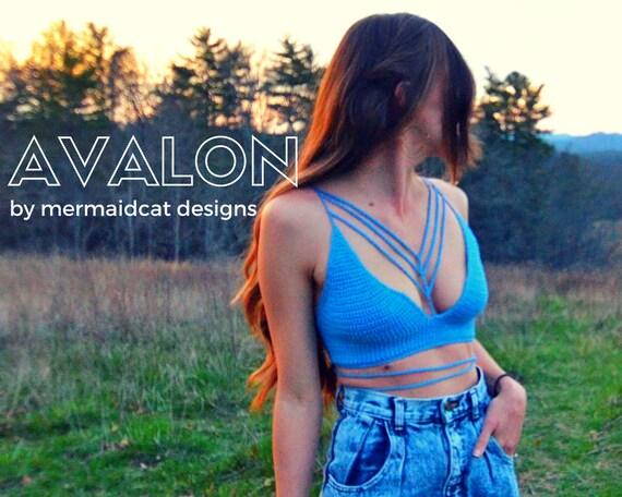 Crcohet crop top, bikini top pattern -Avalon