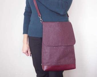 Laptop backpack, Travel Bag, Convertible backpack, Women Rucksack, City Backpack, Waterproof Backpack Bag - Linen Handmade Women's Bag