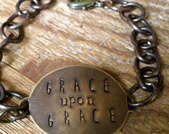 The {Grace upon Grace} Chain Bracelet