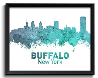 Buffalo Skyline Etsy