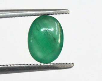 1.26 cts. 100% Natural Green Emerald  5X7 mm approx. cabochon for jewelery