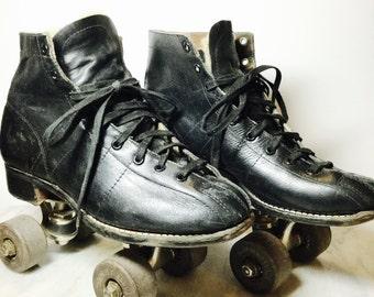 Black Leather Chicago Roller Skates