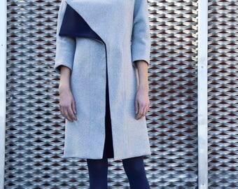 Grey coat/blue coat/women coat