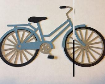 Layered Paper Bicycle Die Cut