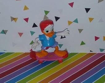 Vintage 1990s Applause PVC Disney Donald Duck Skateboard Figure