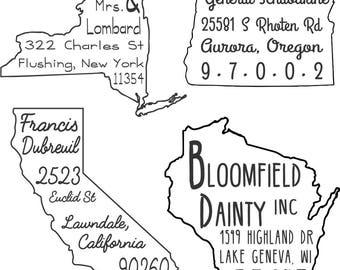 Customized Border Address Stamp