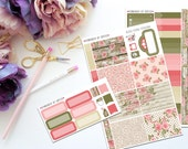 Rustic Floral Personal Sized Weekly Kit -- Matte Planner Stickers