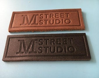 200 Real leather label, Genuine leather patch, Label tag leather, Custom leather tag, Clothing label, Craft label