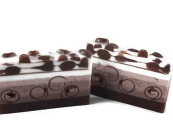 Coffee Bean Soap - Coffee Lovers Gift - Mocha Soap - Vanilla Latte Gift - Organic Coffee Soap - Handmade Coffee Soap - Artisan Soap